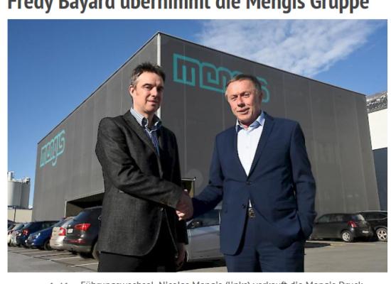 Fredy Bayard übernimmt Mengis-Gruppe
